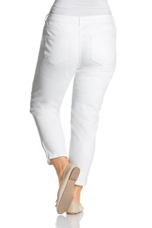 Plus Size - Sara Button Crop Jeans - 208057