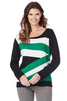 W.Lane Colour Block Stripe Sweater