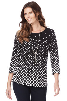 W.Lane Spot Knit Top