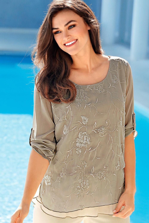 6a1c1626fbf78c Heine Embroidered Sequin Detail Top Online   Shop EziBuy