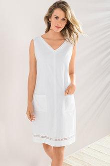 Linen Blend Pocket Dress