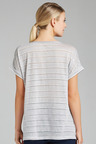 Grace Hill Striped Linen Tee