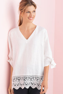 Grace Hill Linen Tunic Top
