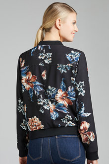 Grace Hill Printed Bomber