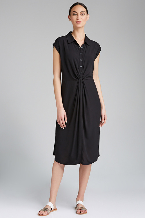 Stripe Collared Dress