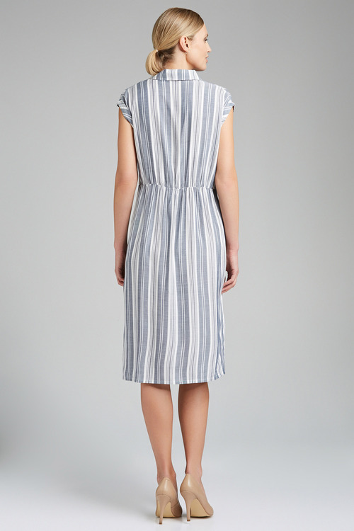 Capture Stripe Collared Dress