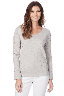 W.Lane Embroidered Spot Knit