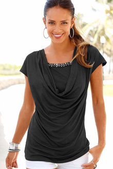 Urban Drape Bead Detail Top
