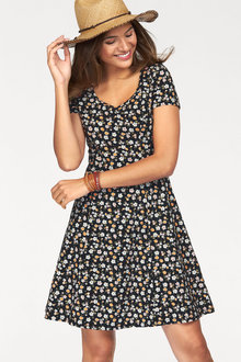 Urban Fit & Flare Floral Print Dress