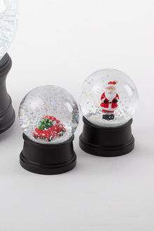 Mini Christmas Snow Globes Set of 2