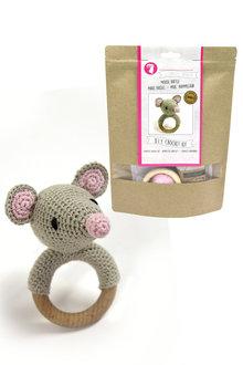 Hardicraft DIY Baby Mouse Rattle Crochet Kit