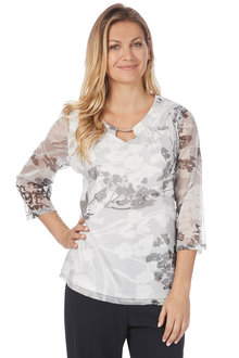 Noni B Lilly Top Printed
