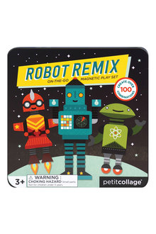 Petitcollage Robots Magnetic Play Set