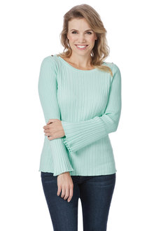 Rockmans Long Bell Sleeve Boatneck Knit