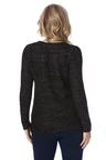 Rockmans Long Sleeve Asymmetric Hem Foil Knit