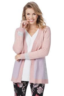 Rockmans Long Sleeve Multi Mix Knit Cardigan