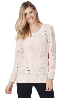 Rockmans Long Sleeve Scoop Neck Chenille Knit - 208483