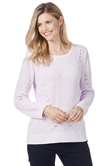 Rockmans Long Sleeve Scoop Neck Chenille Knit