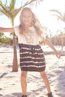 Next Tie Dye Graphic Dress (3-16yrs)