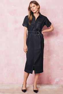 Next Denim Shirt Dress - Petite