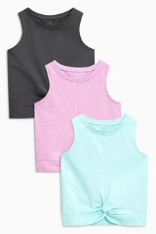 Next Knot Front T-Shirts Three Pack (3-16yrs)