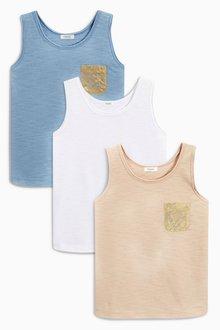 Next Metallic Pocket Vests Three Pack (3-16yrs)