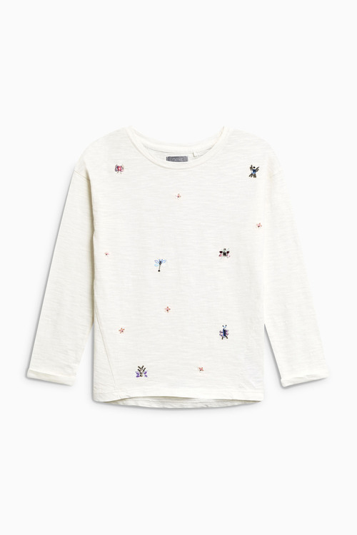 Next Embellished Long Sleeve Top (3-16yrs)