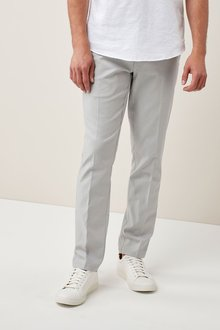 Next Stretch Linen Blend Trousers - Skinny Fit