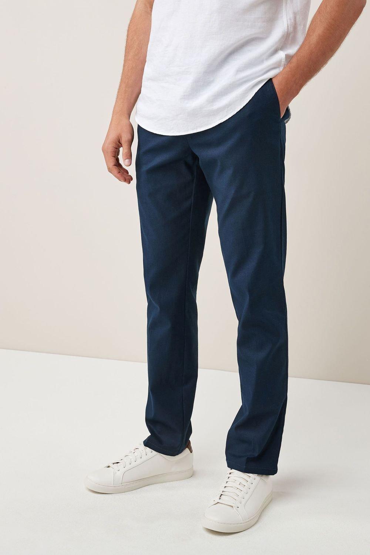 726cc78b149 Next Stretch Linen Blend Trousers - Slim Fit Online