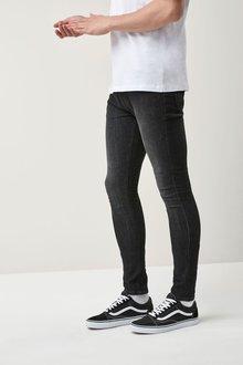 Next Dark Ink Spray On Fit Jeans With Stretch