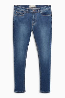 Next Dark Blue Spray On Fit Jeans With Stretch