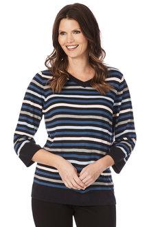 W.Lane Multi Stripe Knit
