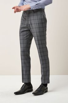 Next Signature Check Slim Fit Suit: Trousers