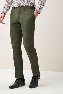 Next Signature Cotton Blend Suit: Trousers - Slim Fit