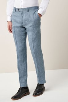 Next Signature Linen Suit: Trousers - Slim Fit