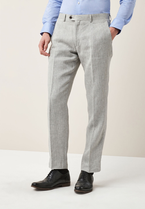 Next Signature Linen Suit: Trousers - Tailored Fit