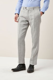 Next Signature Linen Suit: Trousers - Tailored Fit - 208678