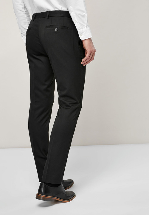 Next Plain Front Trousers With Teflon Finish