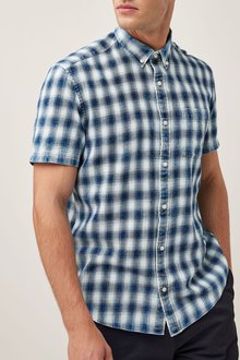 Next Short Sleeve Check Shirt