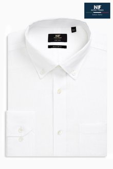 Next Signature Linen Shirt - Regular Fit Single Cuff