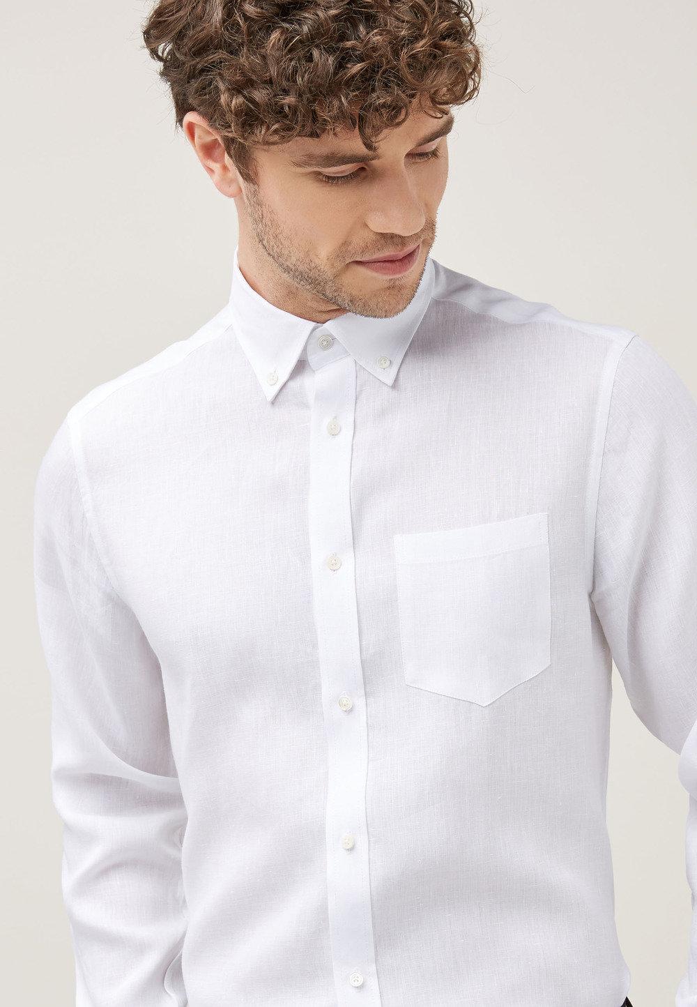 18bd272e8 Next Signature Linen Shirt - Regular Fit Single Cuff Online   Shop EziBuy