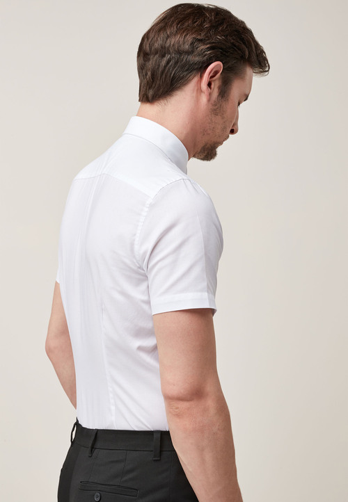 Next Easy Care Oxford Shirt - Slim Fit Short Sleeve