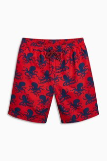Next Squid Print Swim Shorts