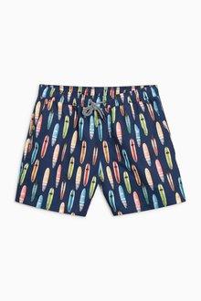 Next Multi Surf Board Print Swim Shorts