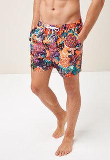 Next Pineapple Print Swim Shorts