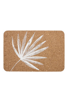 Ladelle Jade Palm Printed Cork Placemats Set pf 4