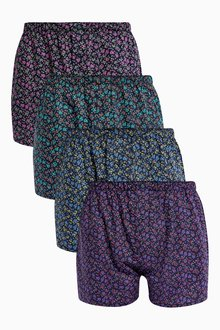 Next Ditsy Floral Woven Boxers Four Pack