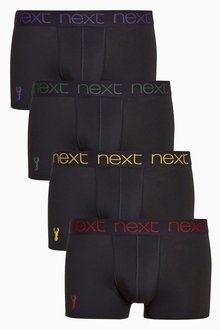 Next Stag Embroidery Hipsters Four Pack
