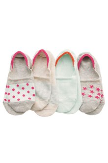 Next Invisible Trainer Socks Four Pack