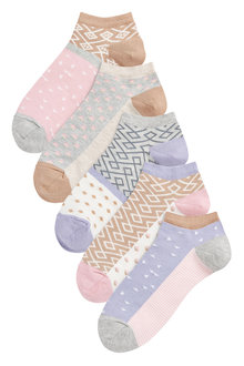 Next Double Pattern Trainer Socks Five Pack